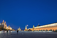 Russia, Moscow, view to Red Square by night - FO006850