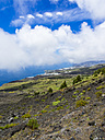 Spain, Canary Islands, La Palma, Puerto Naos, Coast and clouds - AMF002691