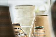Morocco, Fes, flower vases - KM001378