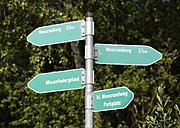 Germany, Bavaria, Freimoos, signpost - SIEF005842