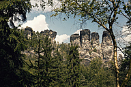Germany, Saxony, view to Elbe Sandstone Mountains at Rathen area - MS004092