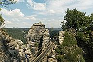 Germany, Saxony, bridge at Elbe Sandstone Mountains - MSF004097