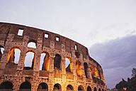 Italy, Lazio, Rome, Colosseum in the evening - GW003123
