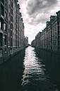 Germany, Hamburg, Warehouse district, Warehouses at Canal - KRPF000998