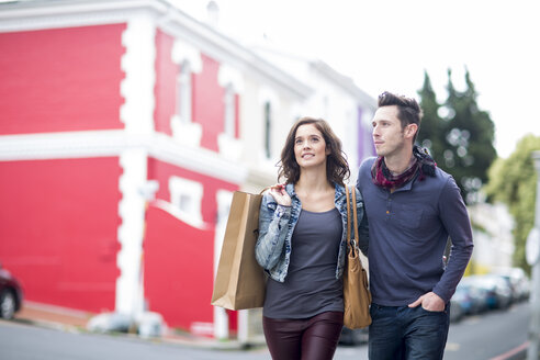 Young couple walking on the street - ZEF000062