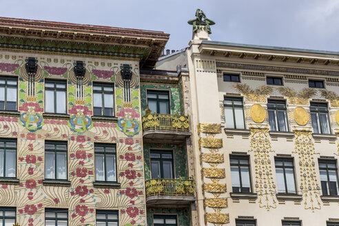 Austria, Vienna, view to facades of Wienzeilenhaeuser - EJWF000509