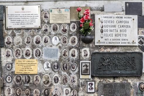 Austria, Mauthausen concentration camp, memorial plaque for Italian prisoners - EJW000567