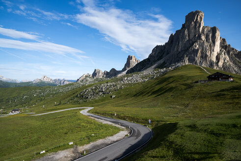 Italy, Veneto, Province of Belluno, Giau Pass in front of Monte Nuvolau - MKFF000113