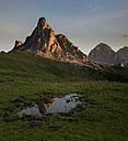 Italy, Veneto, Province of Belluno, Giau Pass, Monte Nuvolau at sunrise - MKF000115