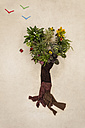 Tree made from plants and trousers - BAEF000739