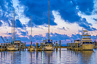 USA, Texas, Fulton Harbor in the evening - ABAF001455