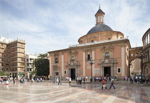 Spain, Valencia, Plaza de la Virgen, Basilika de los Desamparados - WWF003331