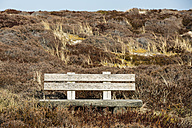 Germany, Schleswig-Holstein, Sylt, bench in dune - SRF000783