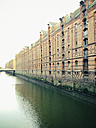 Warehouses in the historical Speicherstadt in Hamburg, Germany - MSF004174