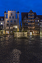 Germany, Lowe Saxony, Hildesheim, Market place, Roland fountain, Wedekindhaus and Tempelhaus left - PVCF000102