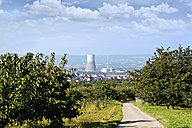 Germany, Rhineland-Palatinate, Muelheim-Kaerlich, nuclear power plant and orchard - CSF022735