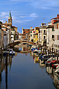 Italy, Province of Venice, Chioggia, houses at channel - APF000005