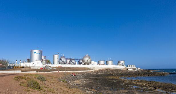 Spain, Canary Islands, Lanzarote, Arrecife, industrial plant of Disa company - AM002771