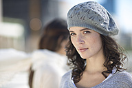 Portrait of woman with wool cap - ZEF000786