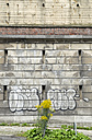 Germany, North Rhine-Westphalia, Aachen, Bunker, Wall and graffiti - HL000731