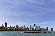USA, Illinois, Chicago, Skyline, Willis Tower and Lake Michigan - FOF007225