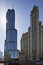 USA, Illinois, Chicago, Trump Tower and Wrigley Building - FOF007153