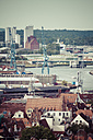 Germany, Schleswig-Holstein, Luebeck, Old town, Harbour and industrial plant - KRPF001036