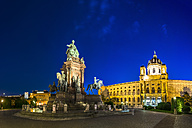 Austria, Vienna, Maria-Theresien-Platz, Museum of Natural History and Maria Theresa Memorial in the evening - PUF000059