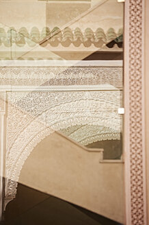 Morocco, Fes, Hotel Riad Fes, ornamentation and reflections - KMF001489