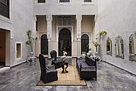 Morocco, Fes, Hotel Riad Fes, lounge - KMF001419