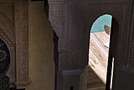 Morocco, Fes, Hotel Riad Fes, part of wall cladding - KMF001437