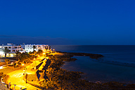Spain, Canary Islands, Lanzarote, Costa Teguise in the evening - AMF002797
