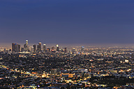 USA, California, Los Angeles, Skyline in the evening - FOF006937
