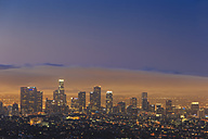 USA, California, Los Angeles, Skyline in the evening - FO006997