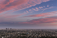 USA, California, Los Angeles, Cityscape at sunset - FOF007002