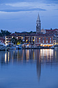 Slovenia, Slovene Littoral, Adriatic coast, Izola, Harbour in the evening - WIF000997