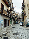 Italy, Sicily, Palermo, Via del Ponticello, Old houses - AMF002808
