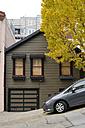 USA, California, San Francisco, parked car at slope - BRF000733