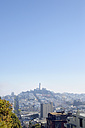 USA, California, San Francisco, view from Lombard Street on Telegraph Hill with Coit Tower - BRF000755