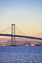 USA, California, San Francisco, Oakland Bay Bridge in morning light - BRF000678