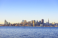 USA, California, San Francisco, skyline of Financial District in morning light - BRF000680