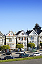 USA, California, San Francisco, Victorian houses at Alamo Square - BR000694