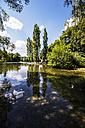 Germany, Bavaria, Munich, English Garden, Schwabinger Bach, Monument of the Bavarian State Government - THAF000588