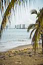 Mexico, Jalisco, Puerto Vallarta, view from Banderas Bay to hotel zone - ABAF001466
