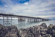 United Kingdom, Wales, Gower Peninsula, Mumbles, Mumbles Pier - DISF001004