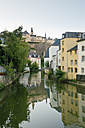 Luxembourg, Luxembourg City, River Alzette in the city district Grund - MSF004228