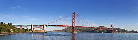 USA, California, San Francisco, Golden Gate Bridge seen from Marine Drive - FOF007023