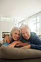 Portrait of smiling senior couple spending time together at home - CHAF000166