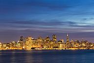 USA, California, San Francisco, Skyline in the evening - FOF007054