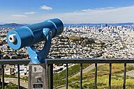 USA, California, San Francisco, Viewpoint Twin Peaks, Telescope - FOF007070